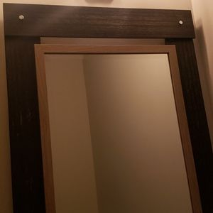 Wood Beveled Mirror